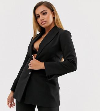 Asos DESIGN Petite pop waisted suit blazer