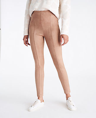Ann Taylor The Side Zip Faux Suede Legging