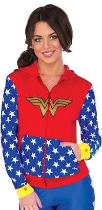 Rubie's Costume Co Costume Women's DC Comics Wonder Woman Fitted Hoodie