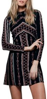 Free People Women's 'Stella' Graphic Print Minidress