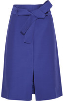 J.Crew Collection Wool And Silk-blend Faille Skirt - Royal blue