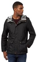 Red Herring Black Hooded Hiking Jacket