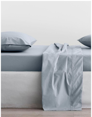 Sheridan Organic Cotton 300TC Percale Queen Fitted Sheet - 40cm Blue Fttd