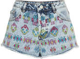 Topshop MOTO Aztec Embroidered Shorts