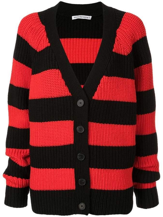 Alexander Wang oversized striped cardigan