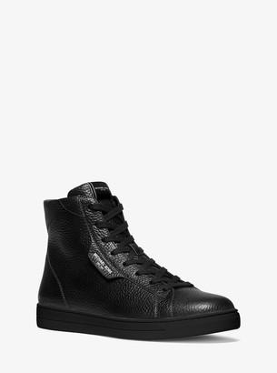 Michael Kors Keating Pebbled Leather High-Top Sneaker