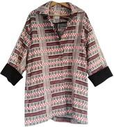 Pablo Burgundy Cotton Coat for Women Vintage