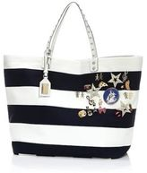 Dolce & Gabbana Striped Canvas Tote