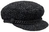 Eugenia Kim Marina Tweed Newsboy Hat, Black