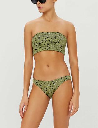 Hunza G Gabrielle bandeau high-leg bikini