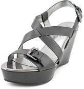Marc Fisher Gilon 3 Womens US Size 8 Faux Leather Wedge Sandals Shoes