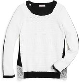 Design History Girls' Color Block Sweater - Sizes S-XL