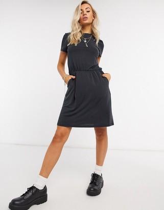 Object Maxwell core slinky mini dress in black