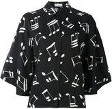 Saint Laurent music note printed shirt