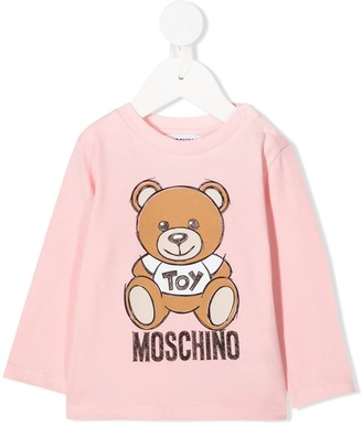 MOSCHINO BAMBINO Teddy Bear logo long-sleeved top