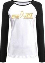 Zsqml Star Trek 2 Women's Contrast Long Sleeve T Shirt