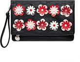 Hallhuber Clutch with 3D floral accents