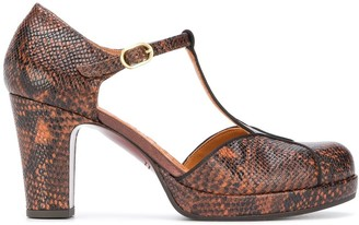 Chie Mihara snakeskin-effect T-bar pumps