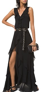 MICHAEL Michael Kors Matte Jersey Ruffled Dress