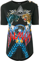 Balmain branded lion T-shirt - women - Cotton - 36