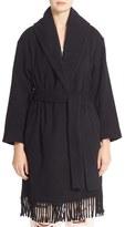 Alexander Wang Women's Fringe Shawl Collar Blanket Coat