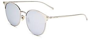 Saint Laurent Women's Mirrored Round Sunglasses, 57mm
