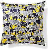 Kate Spade Cheetah Silk & Cotton Square Feather Pillow