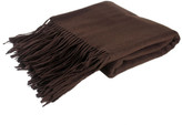 pür cashmere Signature Throw Chocolate