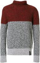 Kenzo colour block ribbed sweater - men - Polyamide/Wool/Alpaca - S