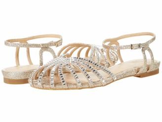 Badgley Mischka womens Heatstone Caged Ballet Flat