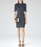 Reiss Lina METALLIC KNITTED DRESS