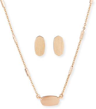 Kendra Scott Fern Necklace & Barrett Earrings Set