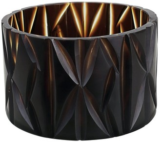 "Aspen Creative Corporation Aspen Creative Brown Glass Votive Candle Holder 4-3/4"" Diameter x 3-1/4"" Height, 1 Pack"