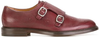 Gucci Bee Brogue Monk shoes