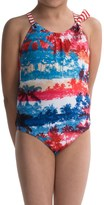 Big Chill Palm One-Piece Swimsuit - Fully Lined (For Big Girls)