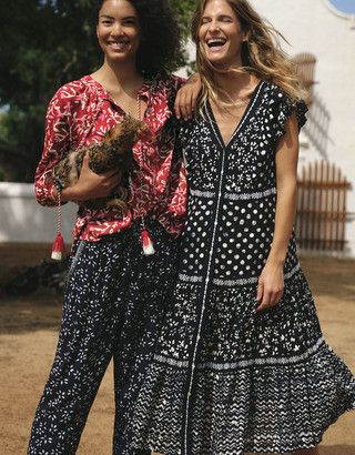 Monsoon Rima Batik Print Dress in LENZING ECOVERO Blue