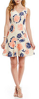 Antonio Melani Levi Embroidered Novelty Dress