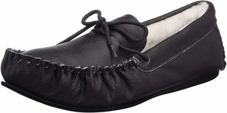 Snugrugs Mens Henry Leather Slippers with Lamsbwool Lining and Rubber Sole