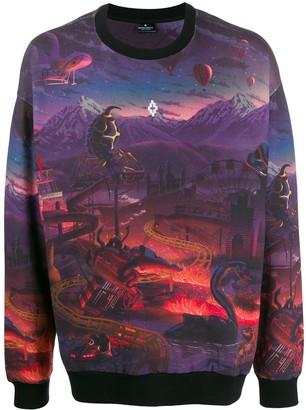 Marcelo Burlon County of Milan Fantasy all-over print sweatshirt