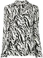 Diane von Furstenberg Courtney abstract animal print silk jacket