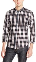 Scotch & Soda Men's Long Sleeve Shirt In Multicolor Twill Check