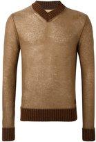 Al Duca D'Aosta 1902 - v-neck sweater - men - Acrylic/Polyamide/Mohair/Wool - S