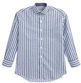 Thomas Dean Boy's Stripe & Check Dress Shirt