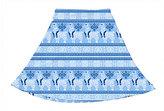 Urban Smalls Blue & White Llamakkah Circle Skirt - Toddler & Girls