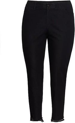 Lafayette 148 New York, Plus Size Mercer Step-Hem Jeans