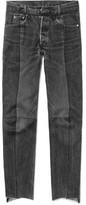 Vetements Levi's Slim-Fit Panelled Denim Jeans