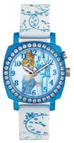 Princess Girls Princess Girl's Quartz Watch with Blue Dial Analogue Display and Silicone Strap PN1409