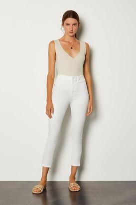 Karen Millen Skinny Cotton Capri Jean