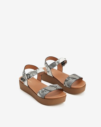 Express Single Strap Slingback Platform Sandals