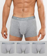 Abercrombie & Fitch 3 Pack Trunks Logo Waistband In Grey
